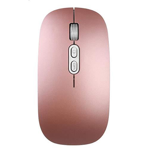 Y-hm Sensación cómoda 2.4 GHz 800/1200/1600 dpi Radio USB Carga de ratón Ultra-Delgado de la Oficina para la computadora portátil PC. Diseño portátil (Color : Red)