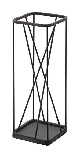 YAMAZAKI NINE SQUARE Schirmständer, Stahl, Schwarz, One Size