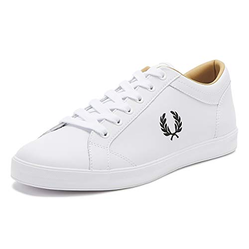 Fred Perry Baseline Leather White 42
