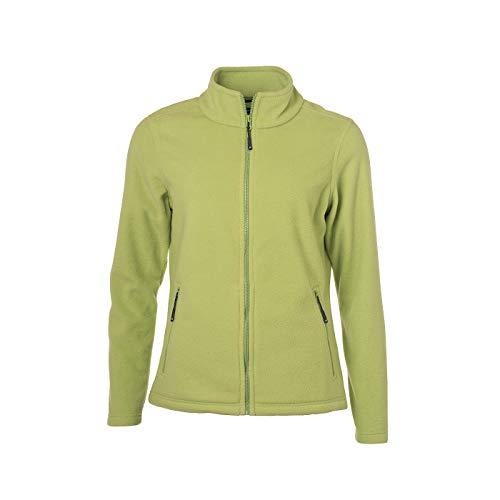 James & Nicholson - Damen Fleece Jacke mit Stehkragen im klassischen Design (L, Lime-Green)