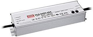"Mean Well HLG-240H-24A Switching LED Power Supply, Single Output, 24V, 0-10A, 240W, 1.5"" H x 2.7"" W x 9.6"" L (Renewed)"