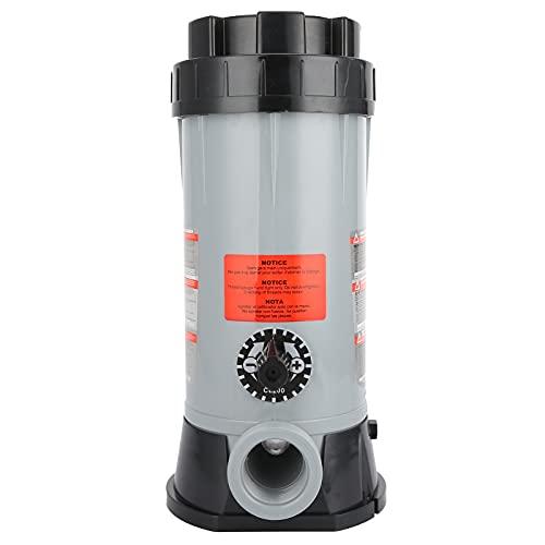 Faceuer Alimentador de Productos químicos, clorador de Piscinas Alimentador automático de Productos químicos para Piscinas Resistente a la corrosión para Piscinas para Limpieza de Jardines
