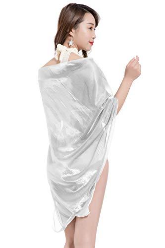 YAOMEI Mujer Bufanda Chales Estolas, Mujer Mantón Estolas Fulares Bufanda Pañuelo bodas nupcial bridemaids Ropa de noche partido