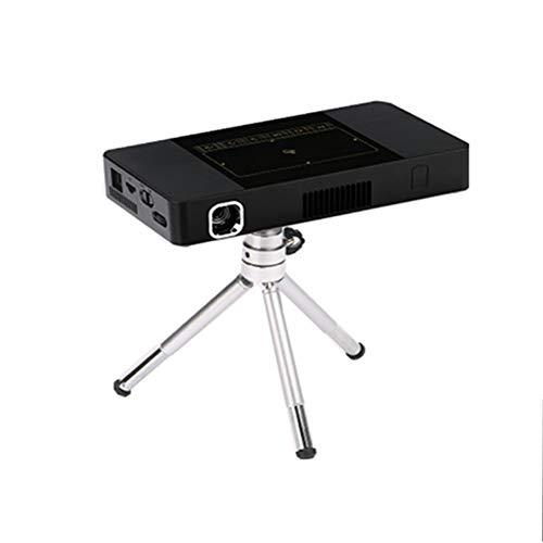 WANGLX ST draagbare C10 Clever Beamer bedrijf thuis HD Micro Beamer multimedia film thuis bioscoop compatibel HDMI/USB/DC/TF-kaart, zwart
