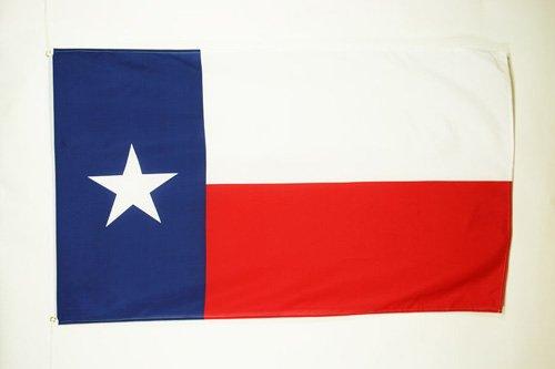 AZ FLAG Flagge Texas 90x60cm - Bundesstaat Texas Fahne 60 x 90 cm - flaggen Top Qualität