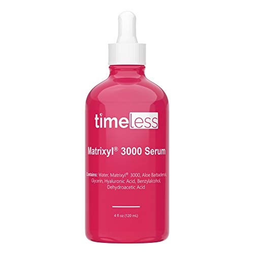 Timeless Skin Care Matrixyl 3000 Serum - 4 oz - Prevent Visible Aging, Repair Damage, Improve Skin Firmness, Elasticity & Hydration - With Hyaluronic Acid - For All Skin Types, Even Sensitive Skin