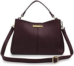 Katie Loxton Myla Pebbled Mulberry Womens Vegan Leather Adjustable Shoulder Strap Handbag