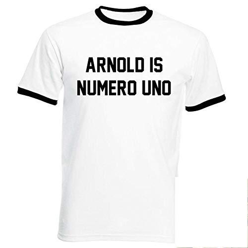Arnold Is Numero Uno T-Shirt - Arnie Schwarzenneger Pumping Iron Gym Fitness tee