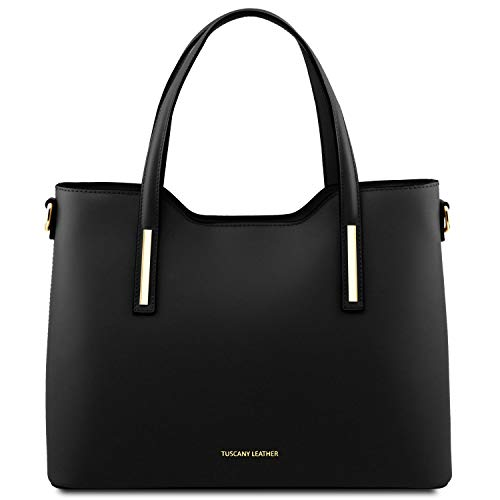 Tuscany Leather Olimpia Borsa shopping in pelle Nero