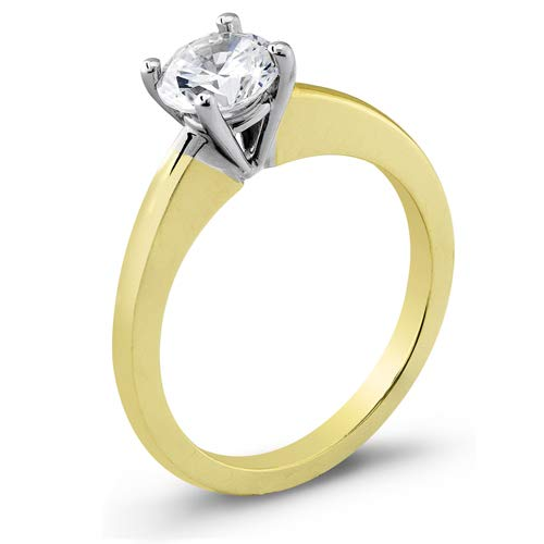 Women's two 5% OFF tone 14 Super Special SALE held karat engagement solitaire ca with 0.60 ring