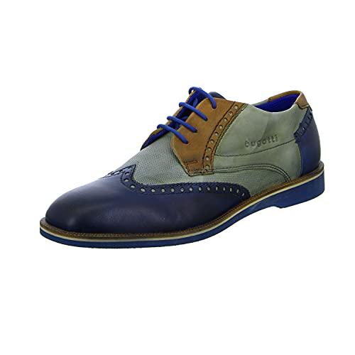bugatti 3.12647E+11, Scarpe Stringate Derby Uomo, Blu (Dark Blue/Grey 4115), 42 EU
