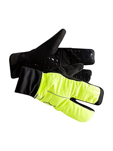 Craft Siberian 2.0 Split Finger Glove Guante, Unisex, Amarillo, 10/L