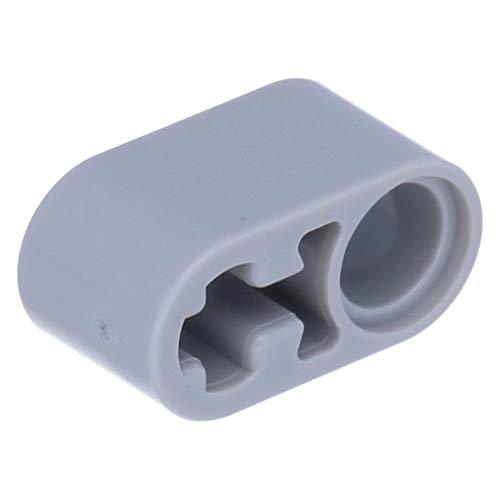 LEGO Technik - 50 Balken 1 x 2 dick mit Pin Loch und Achsloch Hellgrau