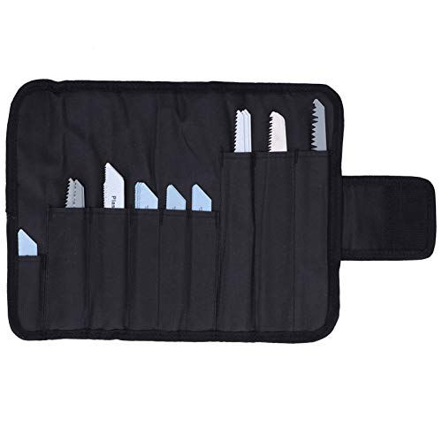 32 piezas HCS + BIM + 304 Kit de hoja de sierra de acero inoxidable Hoja de sierra alternativa Juego de hoja de sierra caladora con bolsa de herramientas negra para corte de madera, metal y plástico