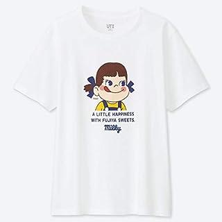 1 FUJIYA 不二家 Peko ペコちゃん × UNIQLO ユニクロ コラボ UT Tシャツ M ホワイト milky ミルキー