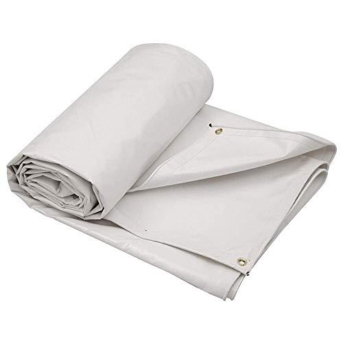 TENT witte Heavy Duty PVC Tarp, waterdicht, ideaal voor dekzeil luifel Tent, boot, Rv of zwembad Cover,Meubeldeksel, Camping Sheet,Isolatie broeikasfilm, Plastic luifel 3 m.