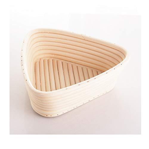 xiaokeai Bread basket Rattan Triangle Country Bread Fermentation Basket Fruit and Vegetable Basket Hand Woven Food Basket Tray Storage Basket White Rattan basket (Size : M)