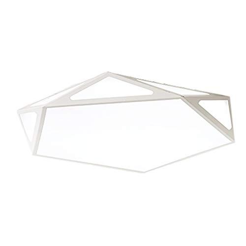 Eclairage JT- Plafonnier 24w, 36w, 48w Plafonnier LED Acrylique Salon Chambre Bureau Blanc Tricolore Gradation Durable (Color : Three-Color dimming, Size : White -42 * 6cm)