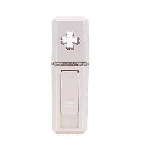 GL Instrument hydratant beauté Compteur d'eau de Nano de pulvérisateur de jauge de Remplissage d'USB chargeant Le Vapeur portatif Facial Brouillard Froid,White