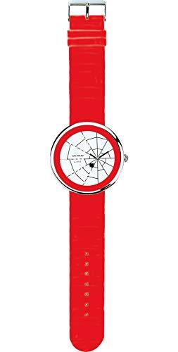 SHEPHERD 15108 Spinnenuhr silberfarben Damen Armbanduhr (große Version) 50 mm Durchmesser Quarz