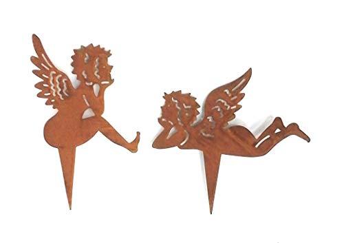 Gartenzaubereien Engel zum Stecken, Edelrost 2 Modelle