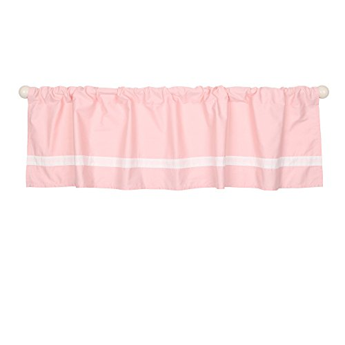 Light Coral Pink Window Valance by The Peanut Shell