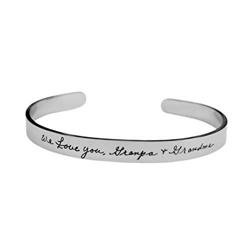 Handwriting jewelry, handwriting bracelet, actual handwriting, handwritten, personalized bracelet, signature gift, custom bracelet, custom jewelry, mom gifts, remembrance jewelry