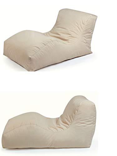 Outbag 2er Set Sitzsack Wave l Gartenliege l Plus Beige