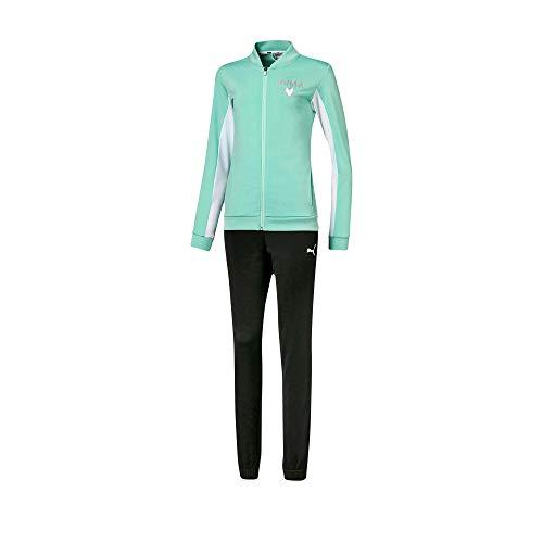 PUMA Unisex Kinder Poly Suit G Trainingsanzug, grün (Mist Green), 140