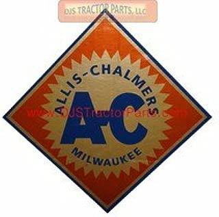 DJS Tractor Parts/ Allis Chalmers AC Diamond Vinyl Decal - Orange, Gold - DJS1523F