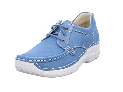 Wolky Comfort Schnürschuhe Seamy Up - 11856 baltischblau Nubuk - 41