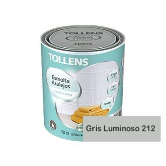 Tollens - Esmalte para azulejos al agua 750 ml (Gris Luminoso 212)