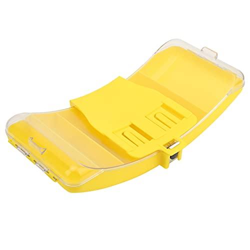 Caja de Pesca de Cintura, Caja de Aparejos de Pesca portátil Plegable tamaño Compacto práctico con diseño ergonómico para Pesca en Arroyos Pesca en ríos y Lagos para Pesca en el mar(Amarillo)