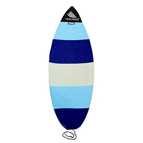 Tidal Wake TAG-IT Surf & Wake Board Socke Tasche mit integriertem Namensschild, 132,2–134,6 cm, personalisierbar mit Ihrem Namen Blau / Grau