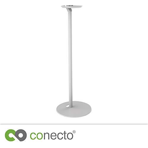 conecto CC50596 Premium Standfuß für SONOS ONE + SONOS Play:1 mit Kabelmanagement, Höhe: 71,6cm, Traglast: max. 3,0kg, weiß