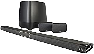 Polk Audio MAGNIFIMAXSR 5.1 Soundbar with Wireless Sub-woofer and Wireless Surround Speakers