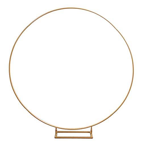 HGY Hochzeits-Bogen Props Round Ring Eisen Hochzeit Dekorative Kulisse Kreis Bogen Rasen Silk künstliche Blumen-Reihe Ständer Wandregal,A,60cm