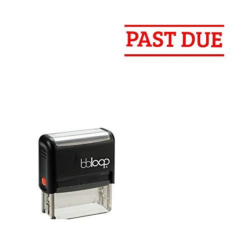 Past Due' Self-Inking Office Stamp, Rectangular Sport Lettering