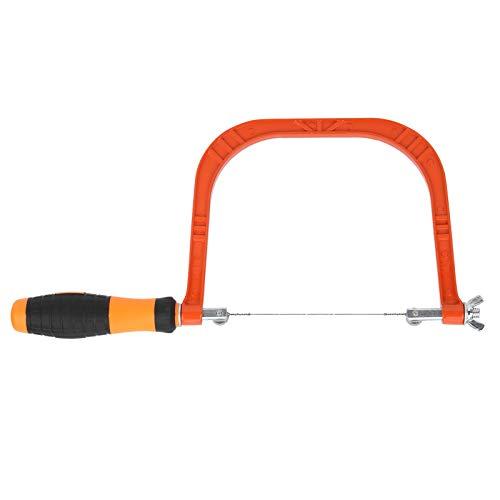 Mini sierra caladora de aleación de aluminio Sierra caladora con mango de 110 mm Sierra caladora para carpintería práctica Resistente a la corrosión simple con fuerza uniforme para trabajos
