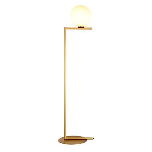 TMY Lampadaire post-moderne Protection des yeux Lampe à économie d'énergie Lampadaire rond verre abat-jour Lampe décorative pour chambre salon