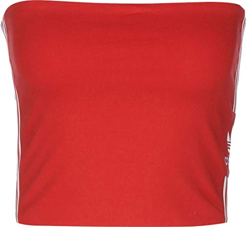 adidas Tube Top, T-Shirt Donna, Lush Red/White, 40