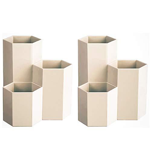 Scatola portaoggetti da scrivania portapenne portapenne esagonale portapenne portamatite scatola portaoggetti forniture per ufficio (2 pezzi)