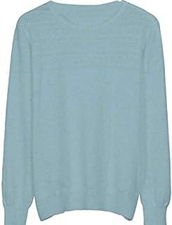 SDJYH Suéter de Mujer con Cuello en O Pullover Suéteres de Punto Suave Tops para Mujer 02