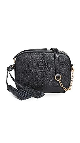 Tory Burch Women's Mcgraw Camera Bag, Black, One Size