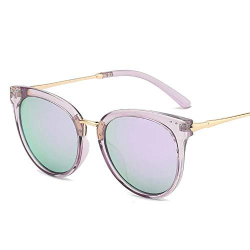 Damesmode luxe ovale zonnebril meisjes voor dames zomerbril UV400 eyewear paars