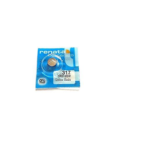 Renata Batterie/Uhrenbatterie, Swiss Made, Größe: 5,8 x 1,6 mm, Ref. Renata 317 (995 030)