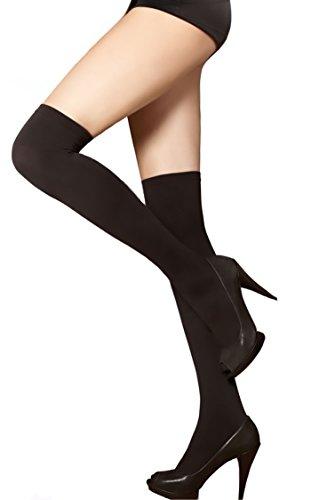GF Keep Hot Damen Kniestrümpfe - blickdicht schwarz warm wie wolle, weich wie baumwolle - Strumpf, Socken - Qualität von Gatta Fashion - Größe onesize - schwarz