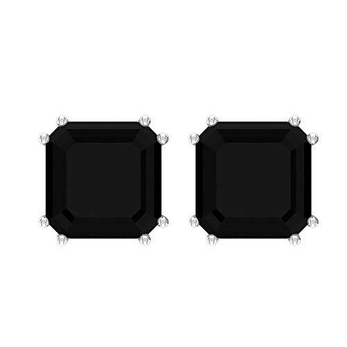 Rosec Jewels 10 quilates oro amarillo asscher Diamante negro creado en laboratorio