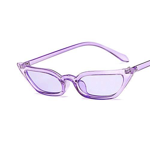 Sunglasses Gafas de Sol de Moda Gafas De Sol Pequeñas con Forma De Ojo De Gato, Tinte Caramelo, Coloridas Gafas De Sol P
