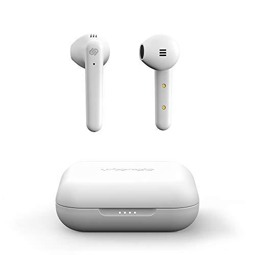 Urbanista Stockholm Plus Earbuds kabellos - über 20 Stunden Spielzeit, wasserfeste IPX4-Kopfhörer, In-Ear-Kopfhörer Bluetooth 5.0, Touch-Control & verbessertes Mikrofon für klare Gespräche, Weiß